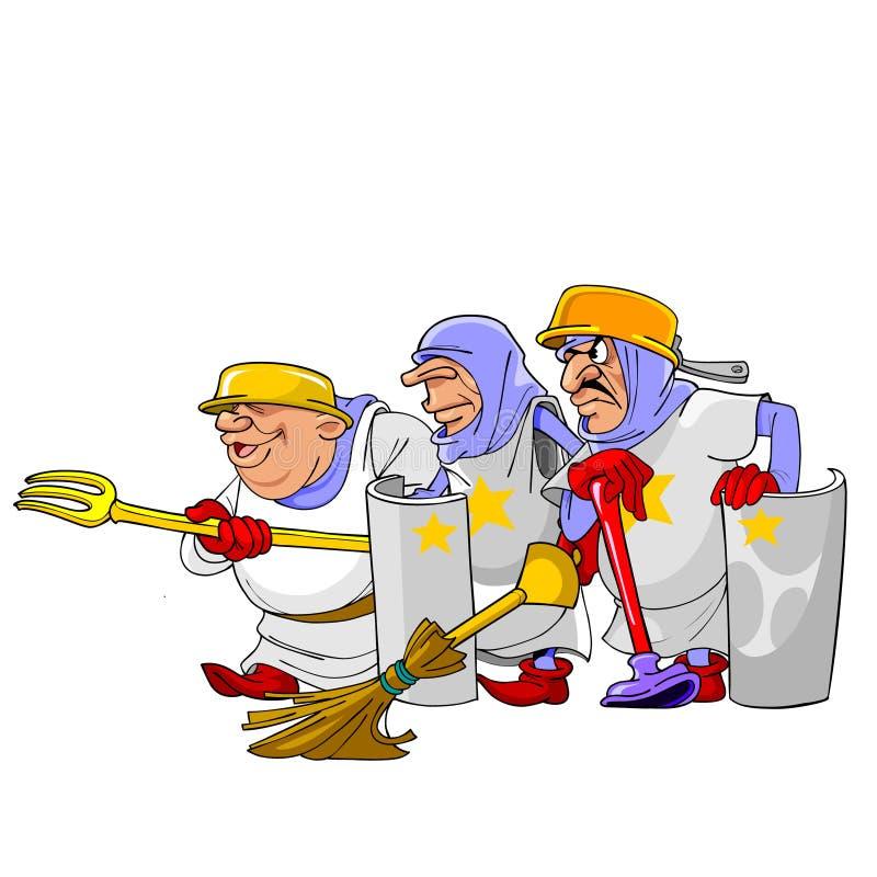 Caballeros divertidos de la historieta libre illustration