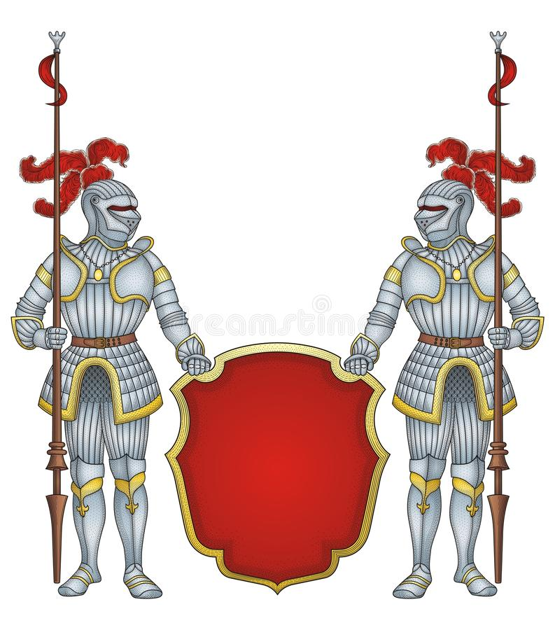 Caballeros reales del protector   libre illustration