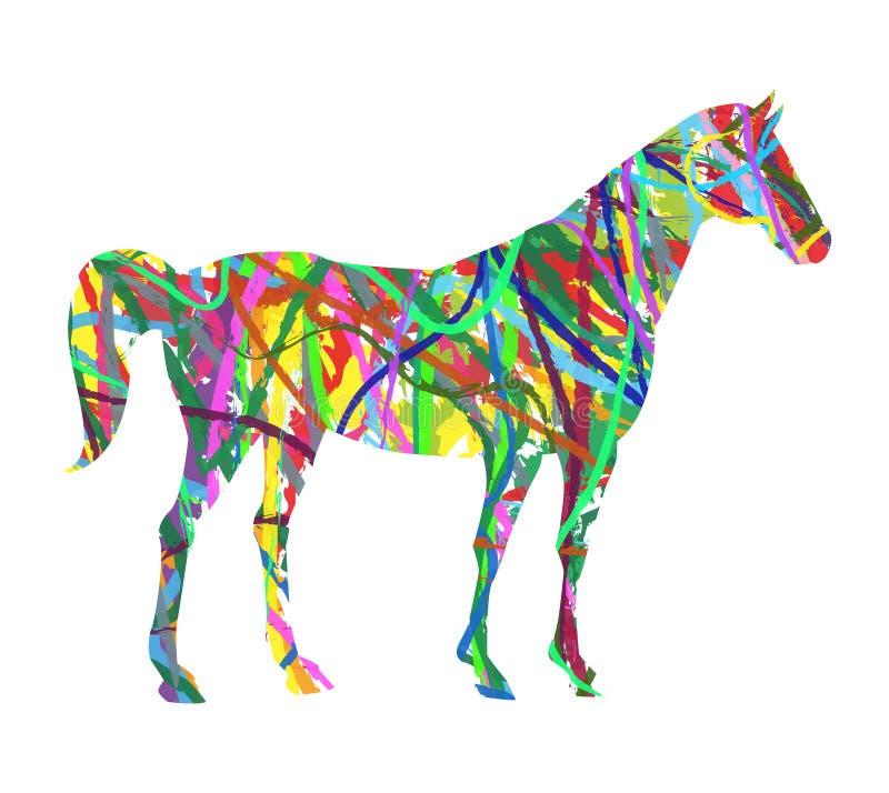 Download Caballo abstracto ilustración del vector. Ilustración de mamífero - 44857720