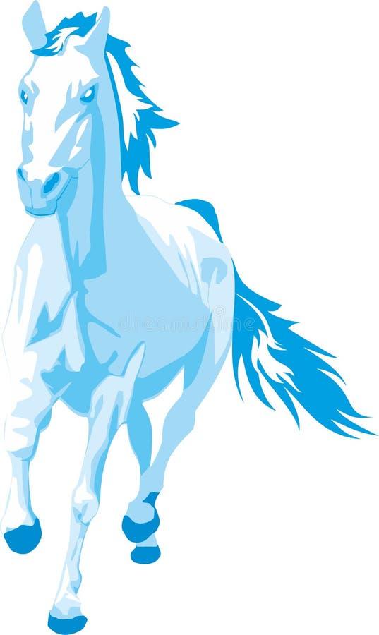 Caballo azul que se encabrita libre illustration