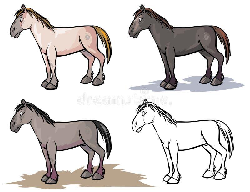 Caballo básico ilustración del vector