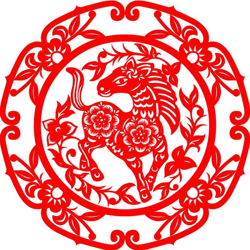 Caballo chino del Año Nuevo stock de ilustración