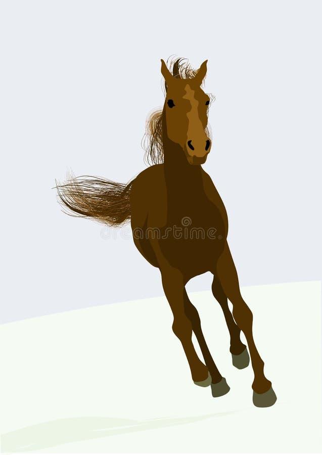 Caballo de carreras de Beautifull ilustración del vector