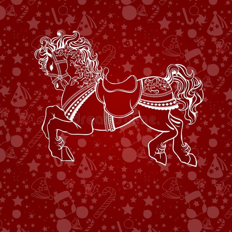 Caballo 2014 del Año Nuevo stock de ilustración