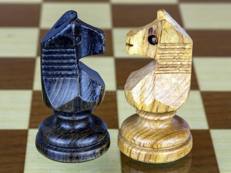 Caballo del ajedrez dos hecho frente fotos de archivo