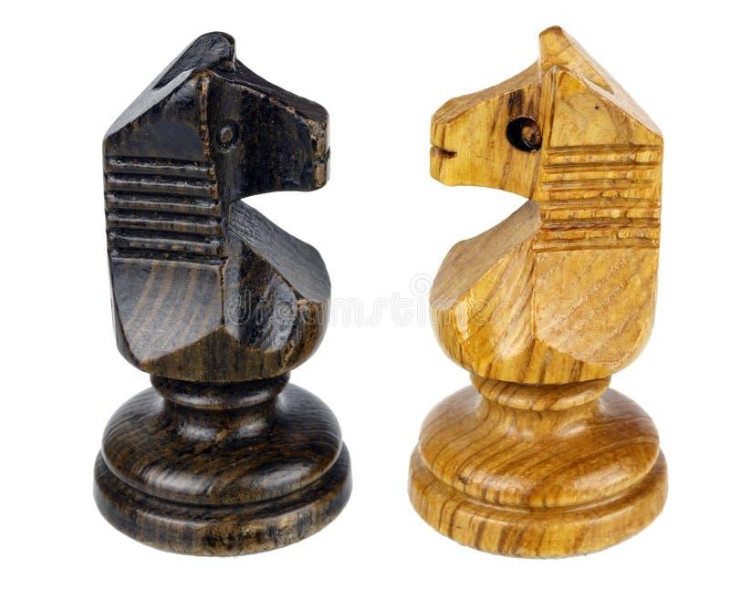 Caballo del ajedrez dos hecho frente fotos de archivo libres de regalías