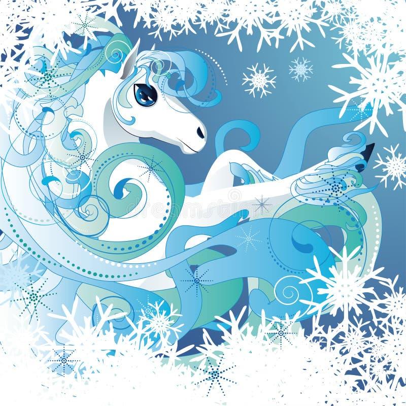 Caballo del invierno ilustración del vector