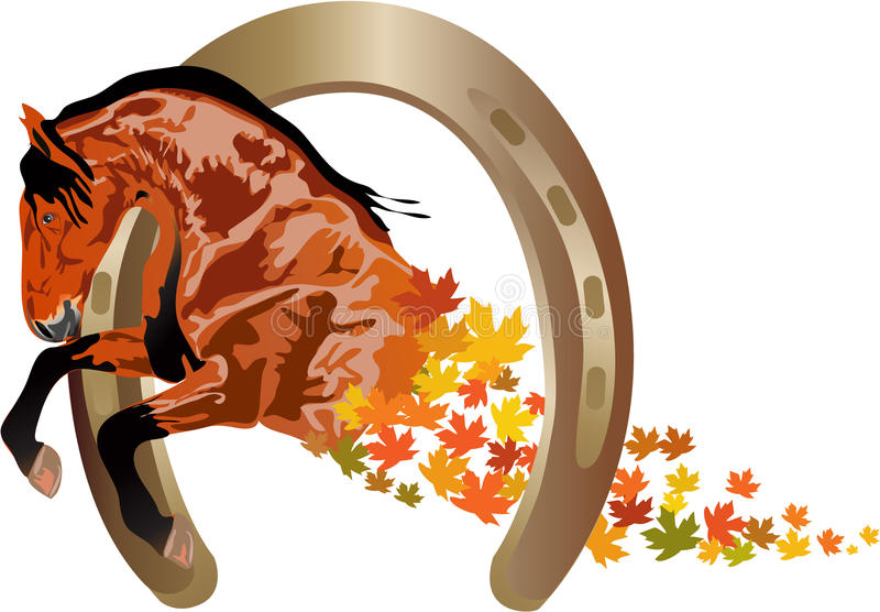 Caballo del otoño stock de ilustración