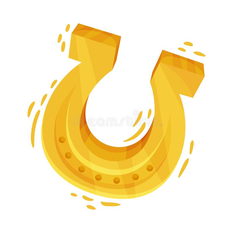 Caballo dorado como atributo de la ilustración vectorial del Día de San Patricio stock de ilustración