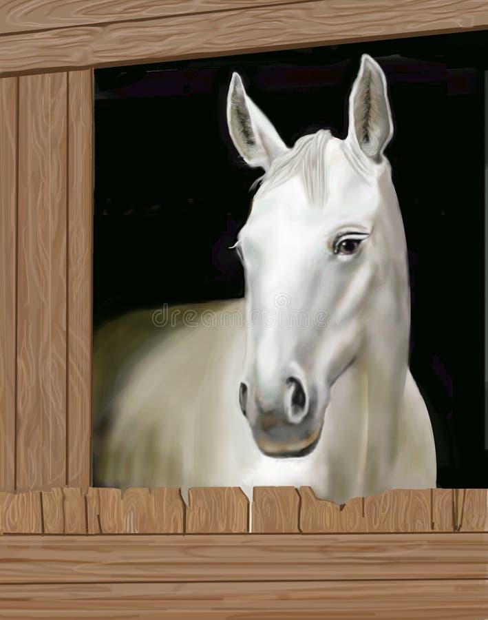 Download Caballo en un establo stock de ilustración. Ilustración de pintura - 185696