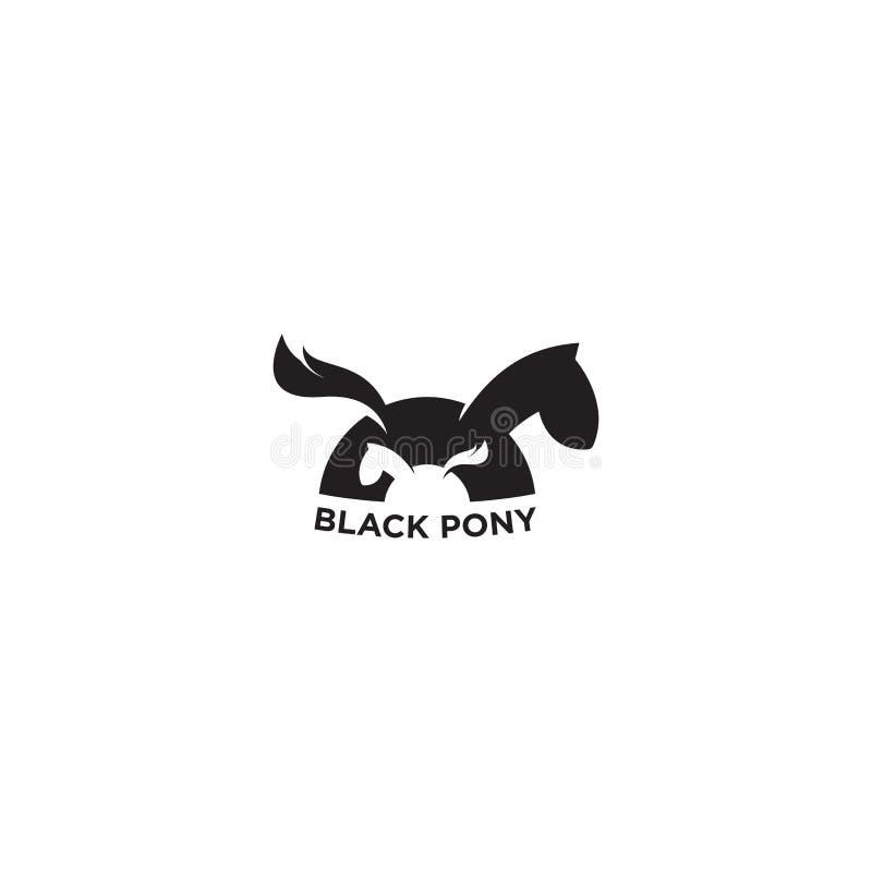 Caballo Logo Vector, Pony Logo Vector, EPS 10 foto de archivo libre de regalías