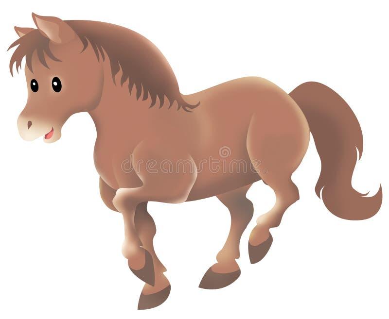 Caballo marrón lindo ilustración del vector