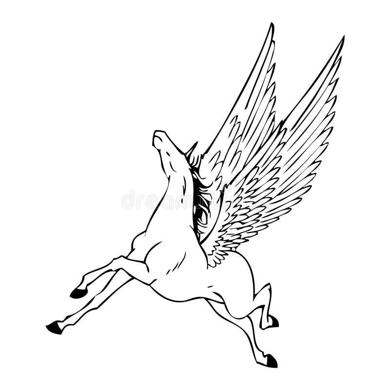 Caballo negro libre illustration