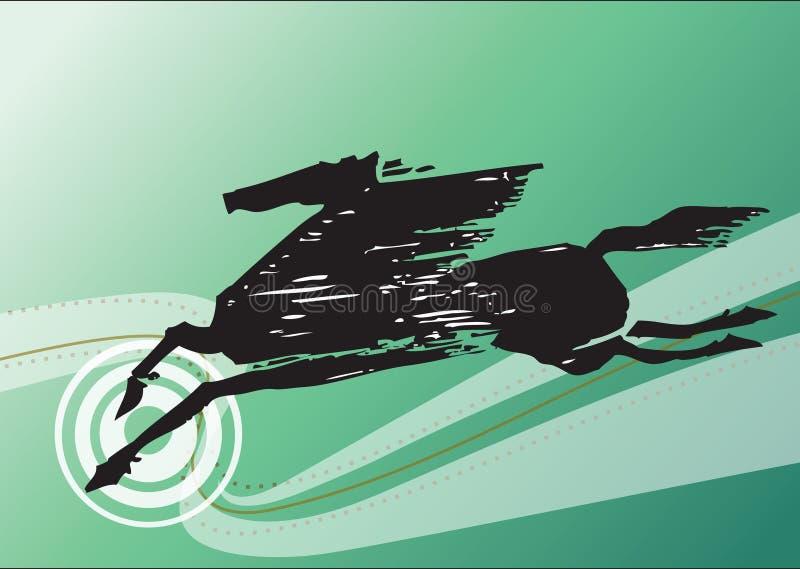 Caballo negro abstracto ilustración del vector