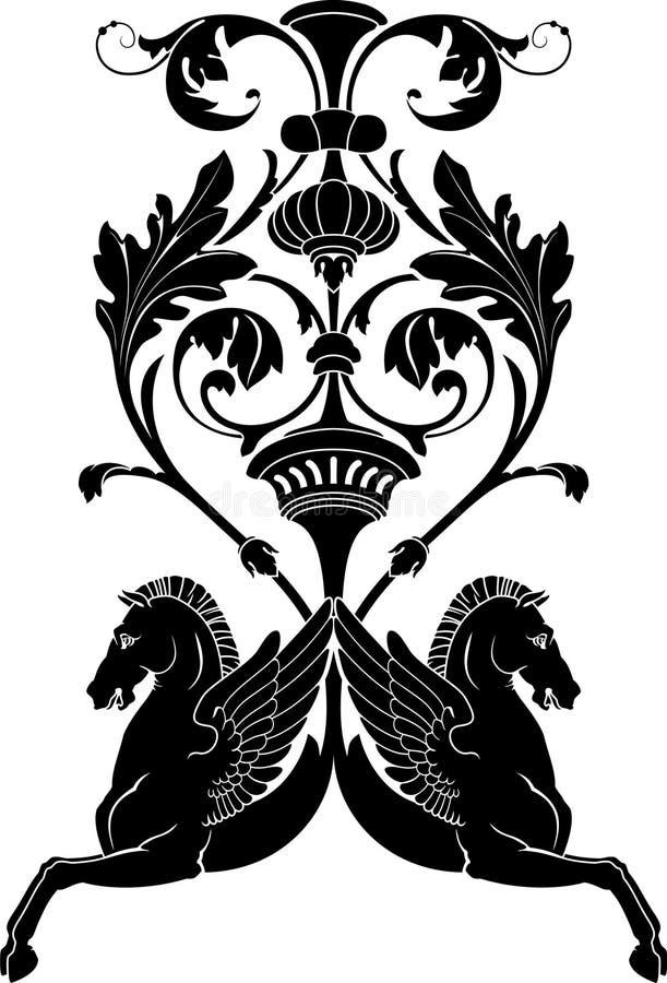 Caballo ornamental stock de ilustración
