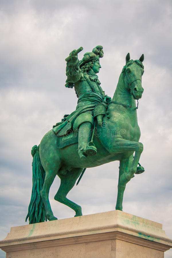 Caballo y estatua París del jinete fotos de archivo libres de regalías