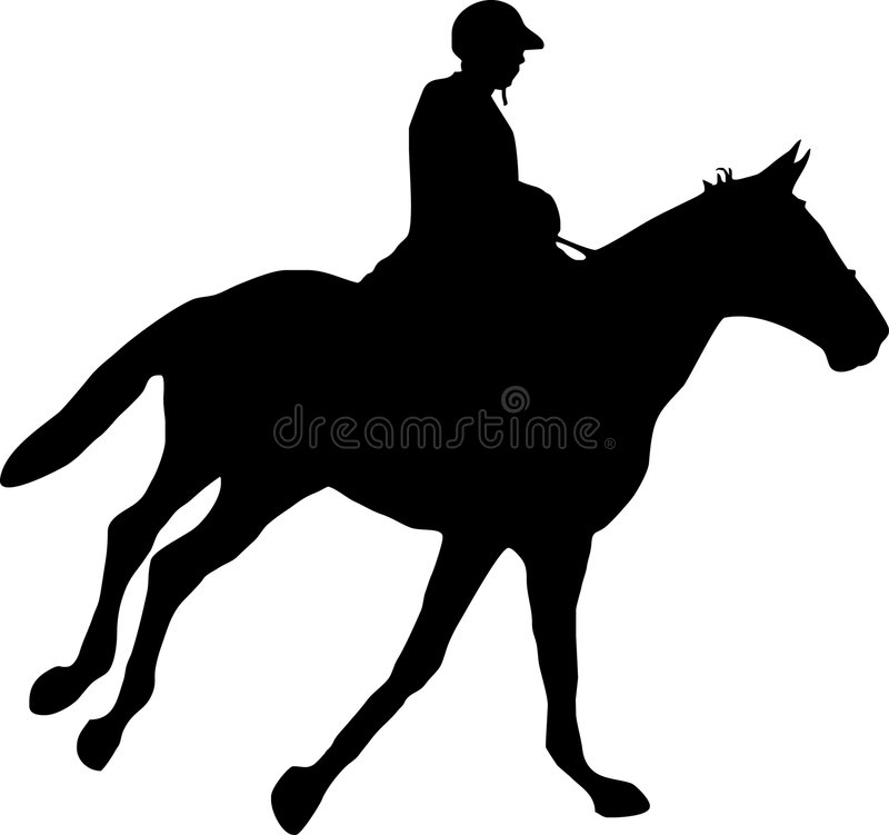 Download Caballo y jinete ilustración del vector. Ilustración de animal - 7150722