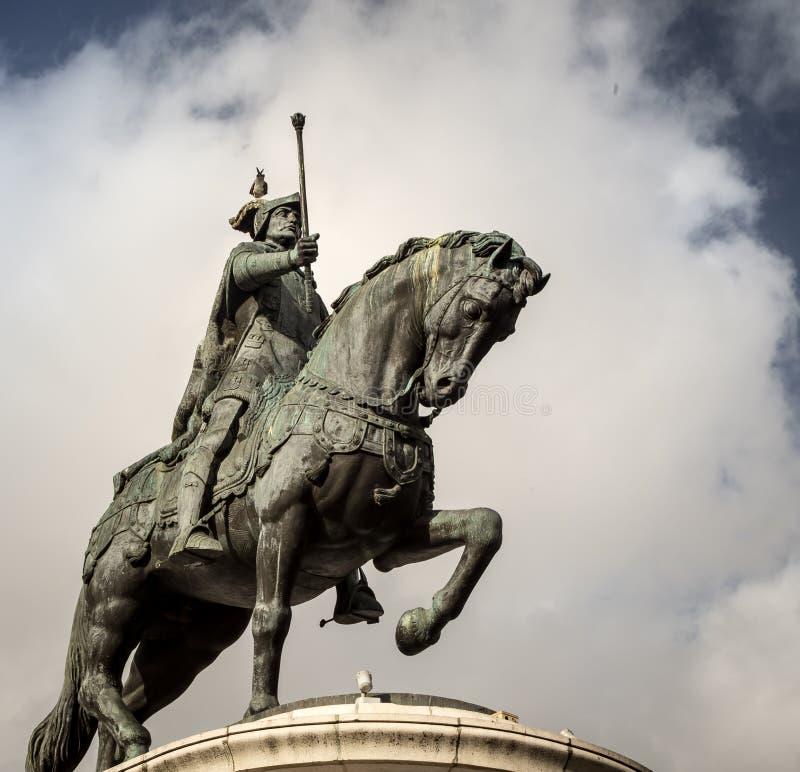 Caballo y Rider Statue fotos de archivo