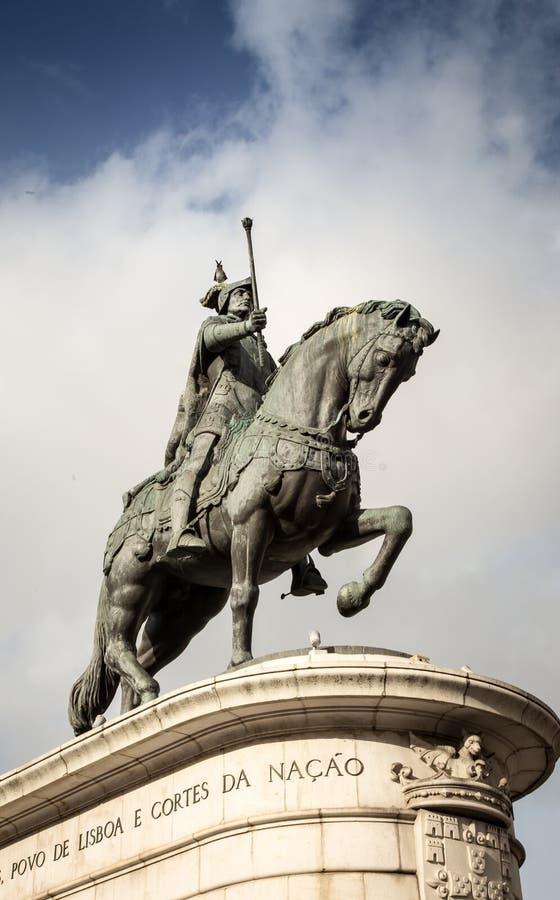 Caballo y Rider Statue imagen de archivo libre de regalías