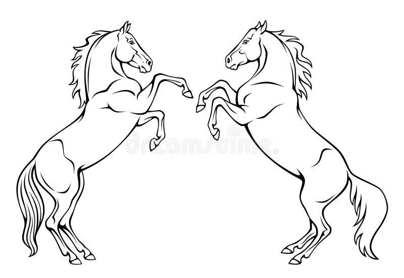 Caballos ilustración del vector