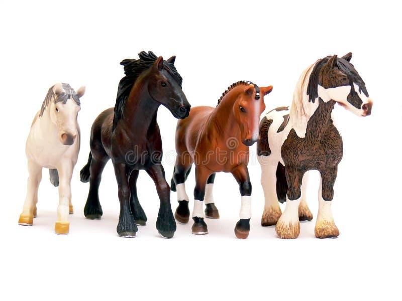 Caballos - juguetes imagen de archivo