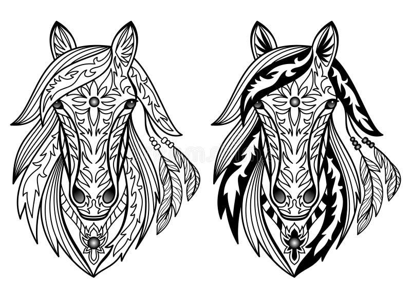 Caballos ornamentales ilustración del vector