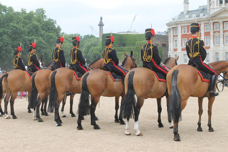 Caballos y guardia de Londres fotografía de archivo libre de regalías