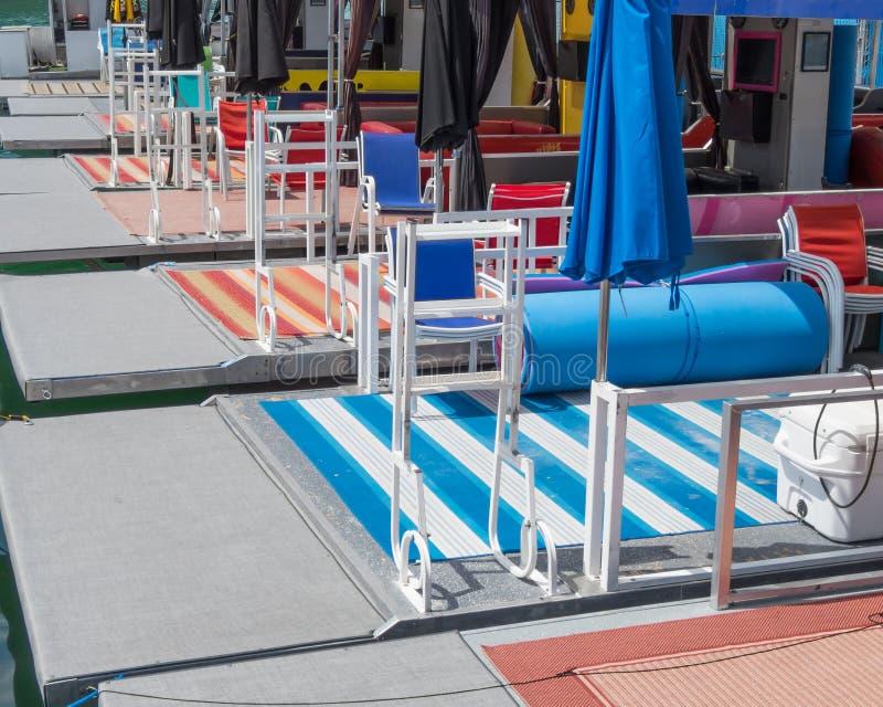 Cabana łodzie dla czynszu zdjęcia royalty free