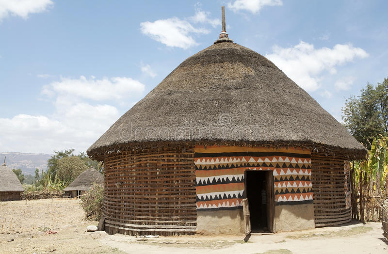Cabana africana imagens de stock royalty free