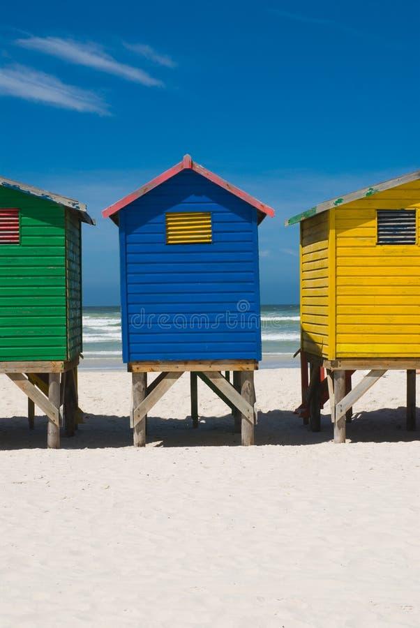 Cabana colorida da praia imagens de stock royalty free