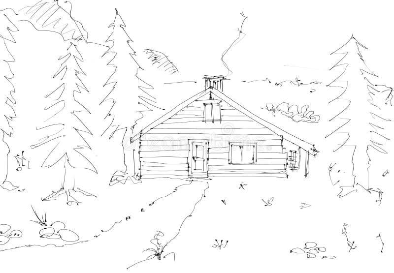 Cabana da montanha ilustração do vetor