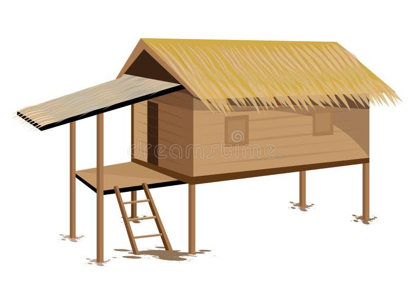 Cabana da palha ilustração royalty free