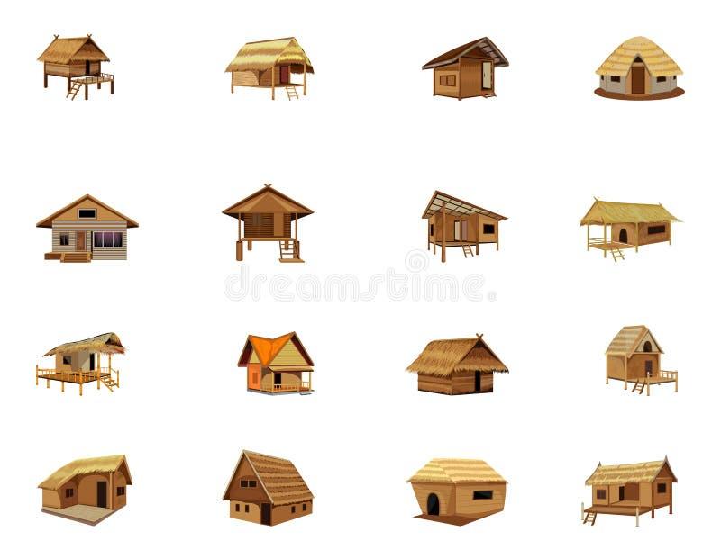 Cabana da palha ilustração stock