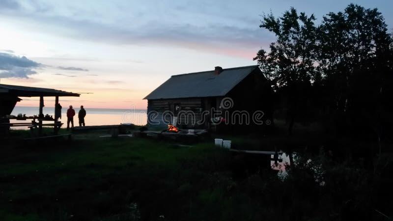 Cabana da pesca na praia imagens de stock royalty free