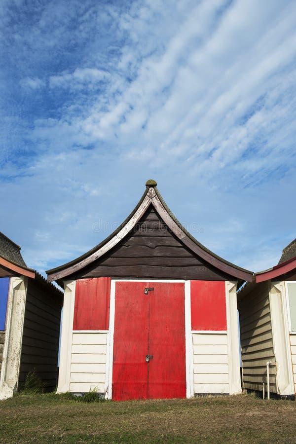 Cabana da praia em Mablethorpe imagens de stock royalty free