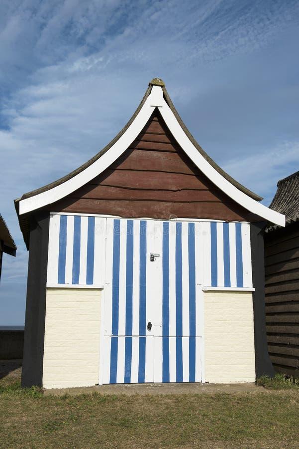 Cabana da praia em Mablethorpe foto de stock royalty free