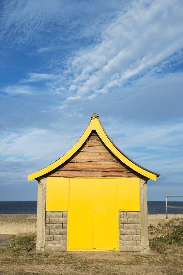 Cabana da praia em Mablethorpe imagem de stock royalty free