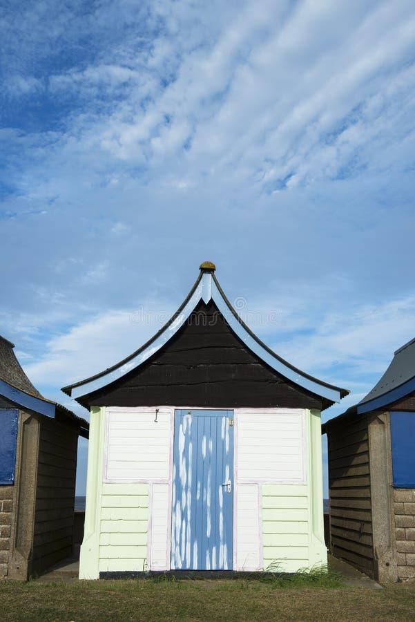 Cabana da praia em Mablethorpe fotografia de stock royalty free