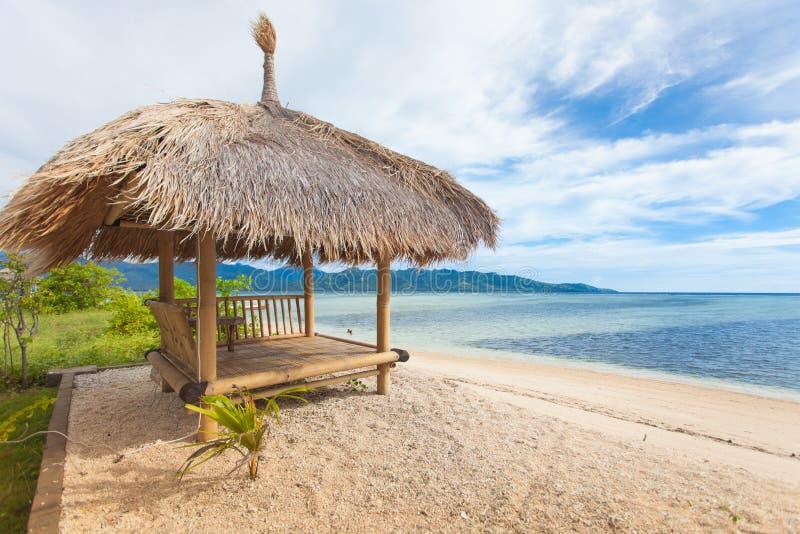 Download Cabana de bambu imagem de stock. Imagem de baía, idyllic - 29831551