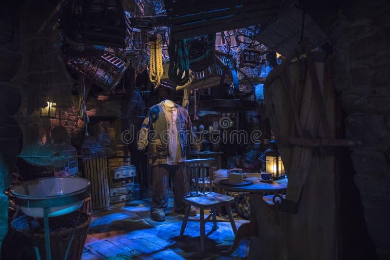 Cabana de Hagrids na fatura de Harry Potter Tour imagens de stock royalty free