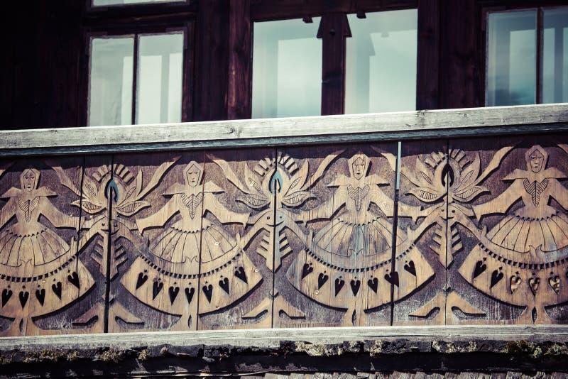 Cabana de madeira polonesa tradicional de Zakopane, Poland imagem de stock royalty free