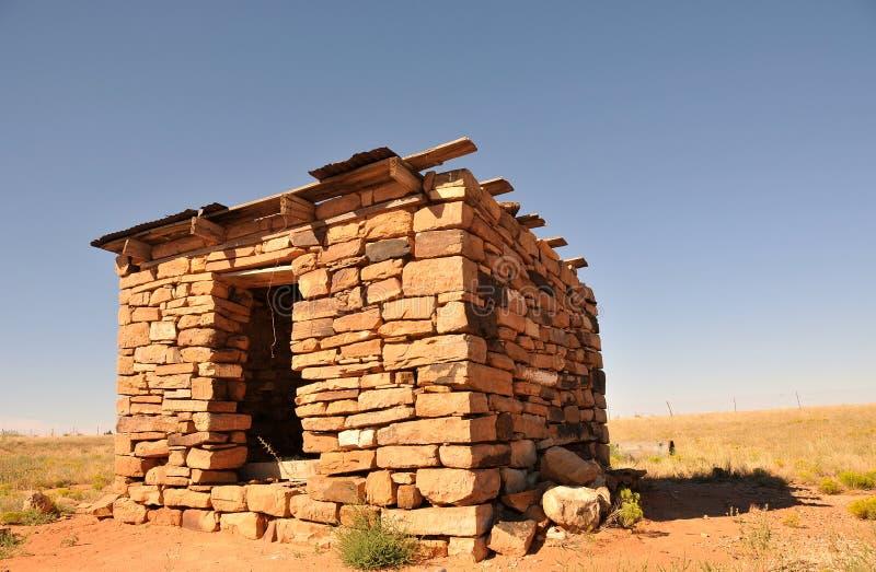 Cabana de pedra do deserto fotografia de stock royalty free
