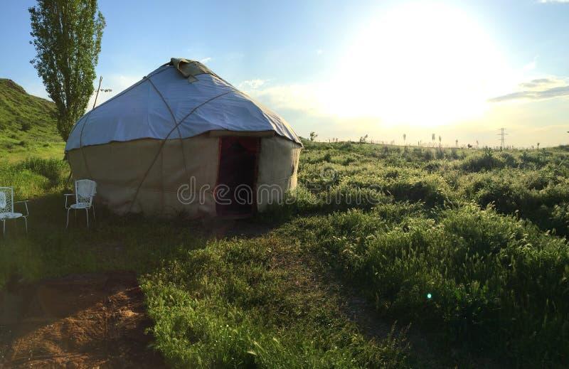 Cabana de Quirguistão fotos de stock royalty free