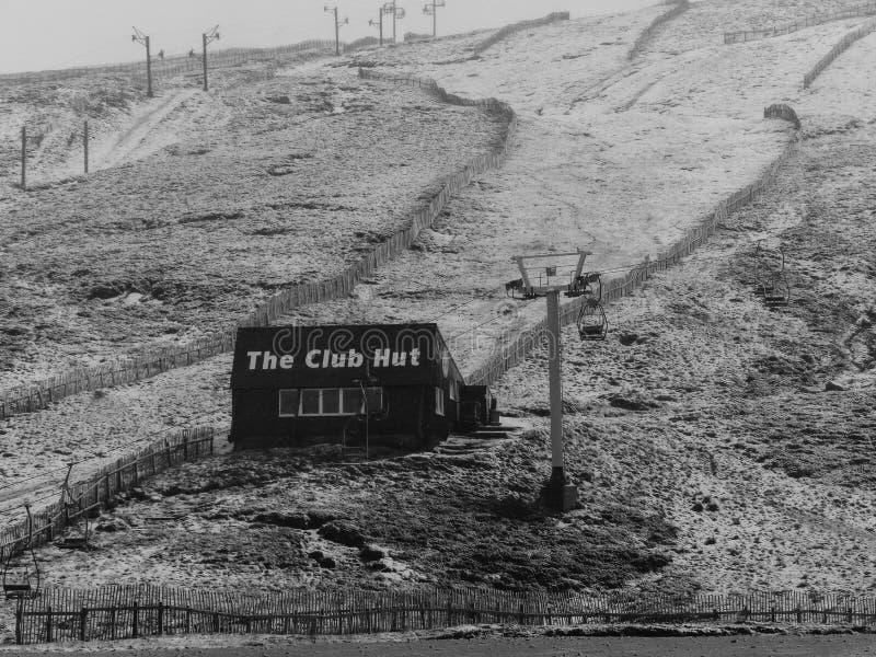 Cabana do clube de Glenshee foto de stock