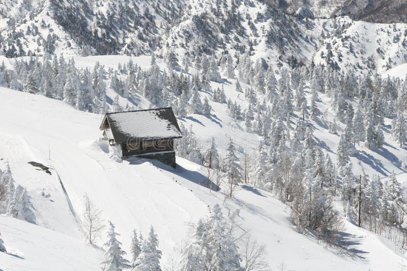 Cabana do inverno foto de stock
