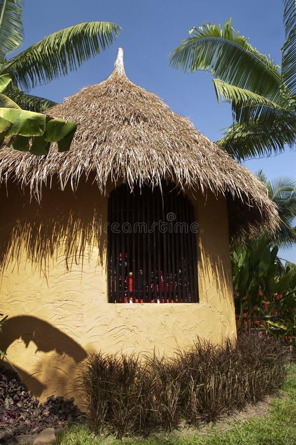 Cabana do Masai de Kenya fotos de stock royalty free