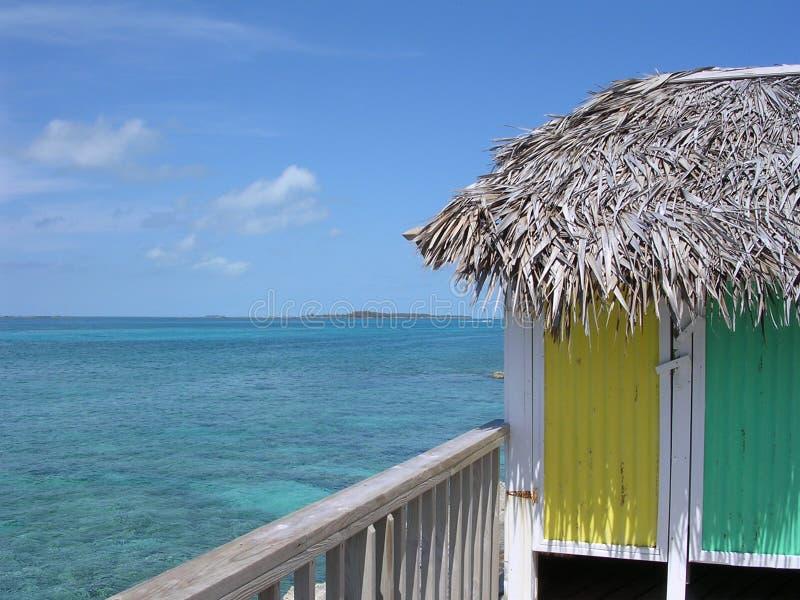 Cabana do Perl Isl Bahamas fotos de stock