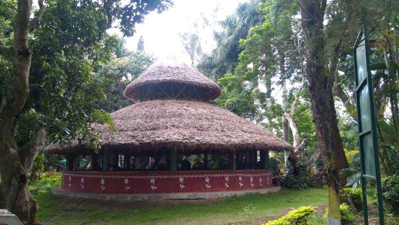 Cabana em jardins de um Padmapuram para uma ruptura pequena foto de stock