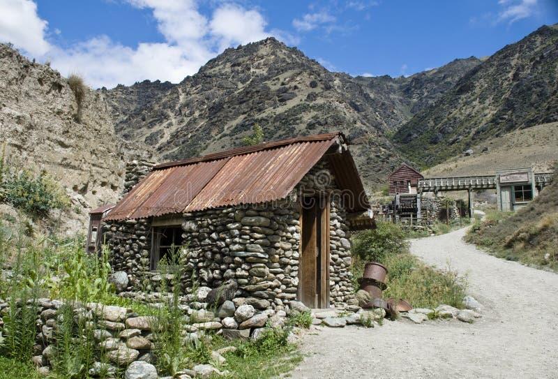 Cabana histórica dos mineiros fotografia de stock