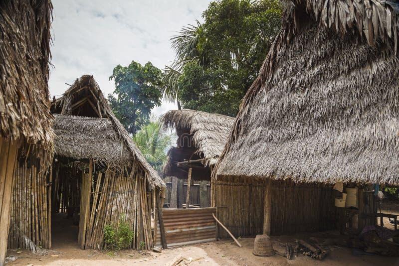 Cabana indiana para cerimônias do ayavaska fotografia de stock